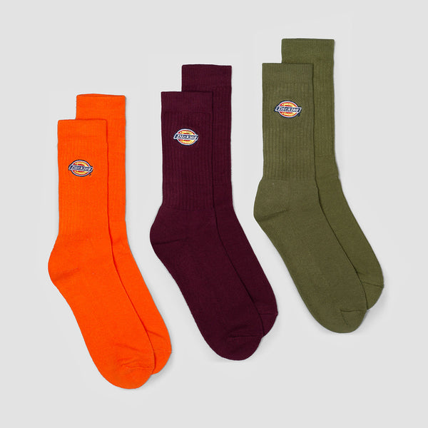 Dickies Valley Grove Socks 3 Pack Army Green