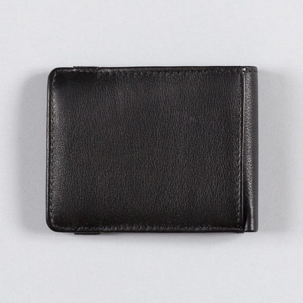 Dickies Wilburn Leather Bifold Wallet Black - Accessories