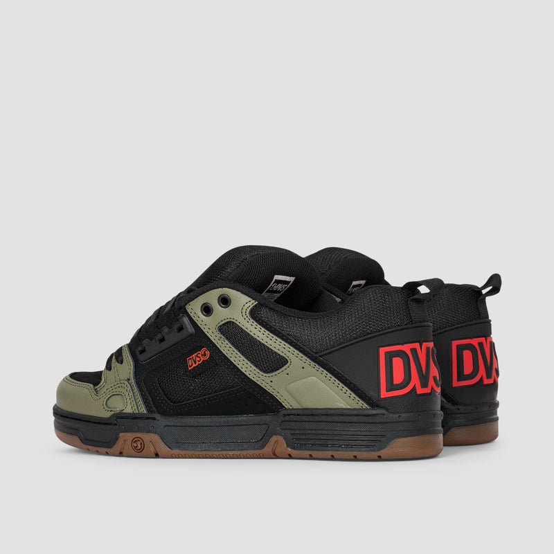 DVS Comanche Black/Olive/Orange Nubuck
