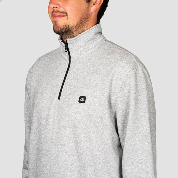 Element 92 Track 1/4 Zip Crew Sweat Grey Heather