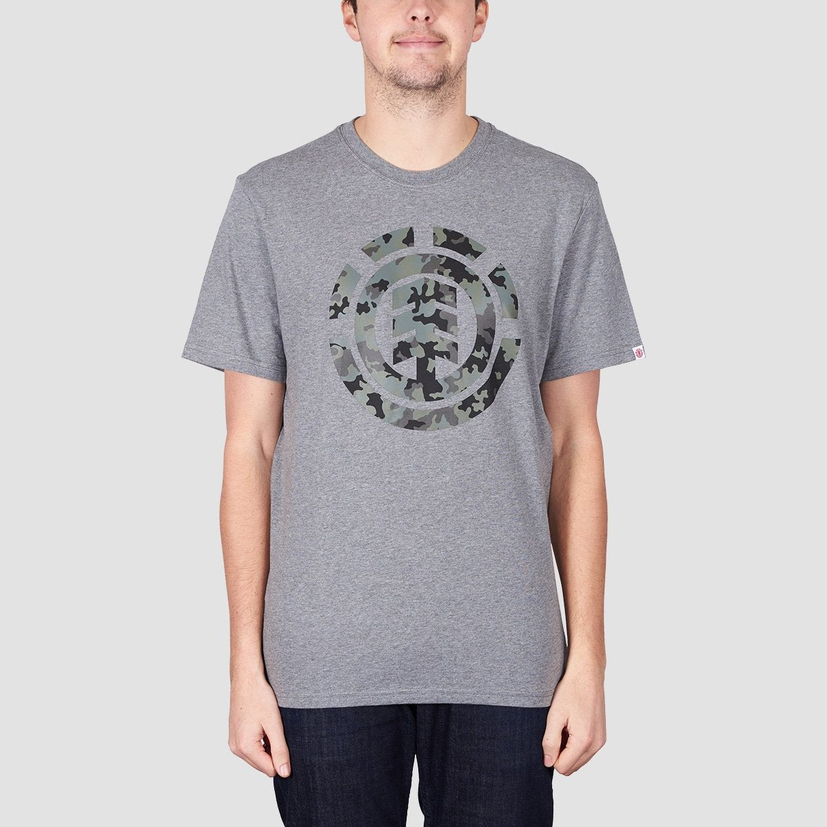 Element Bark Logo Tee Grey Heather - Clothing