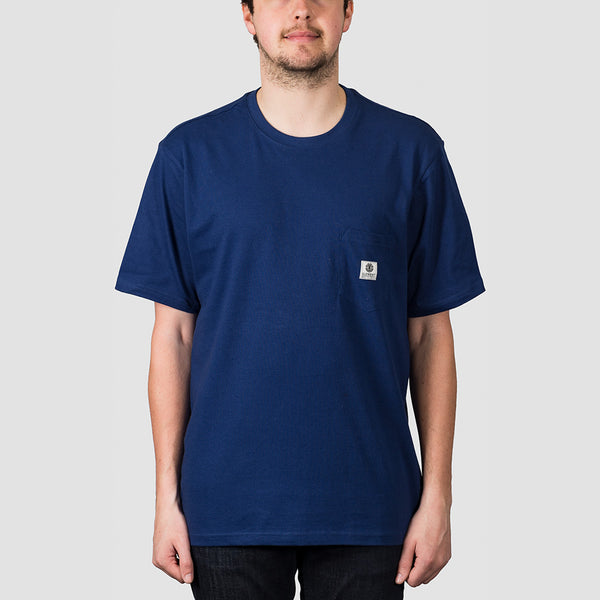 Element Basic Pocket Label Tee Blue Depths