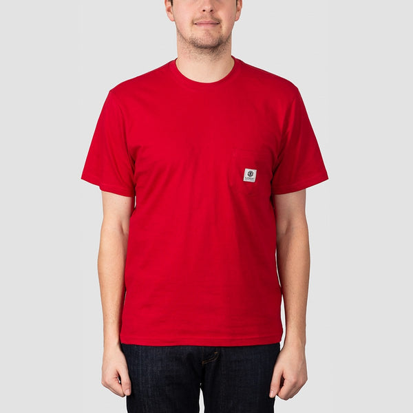 Element Basic Pocket Label Tee Chili Pepper - Clothing