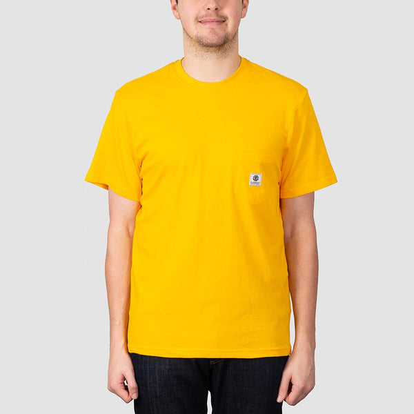 Element Basic Pocket Label Tee Gold - Clothing