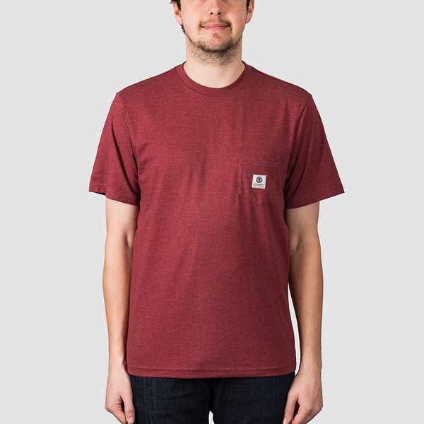 Element Basic Pocket Label Tee Port Heather