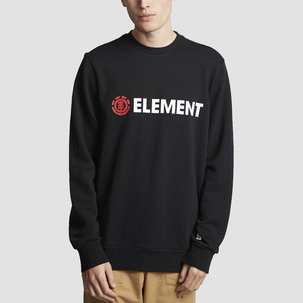 Element Blazin Crew Sweat Flint Black