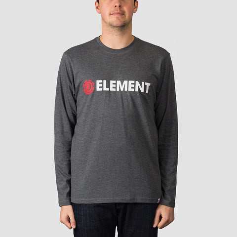 Element Blazin Long Sleeve Tee Charcoal Heather