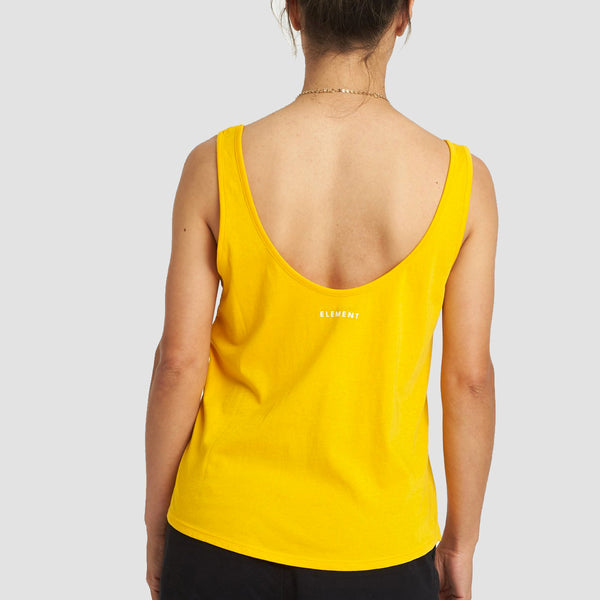 Element Branded Low Tank Vest Gold - Womens