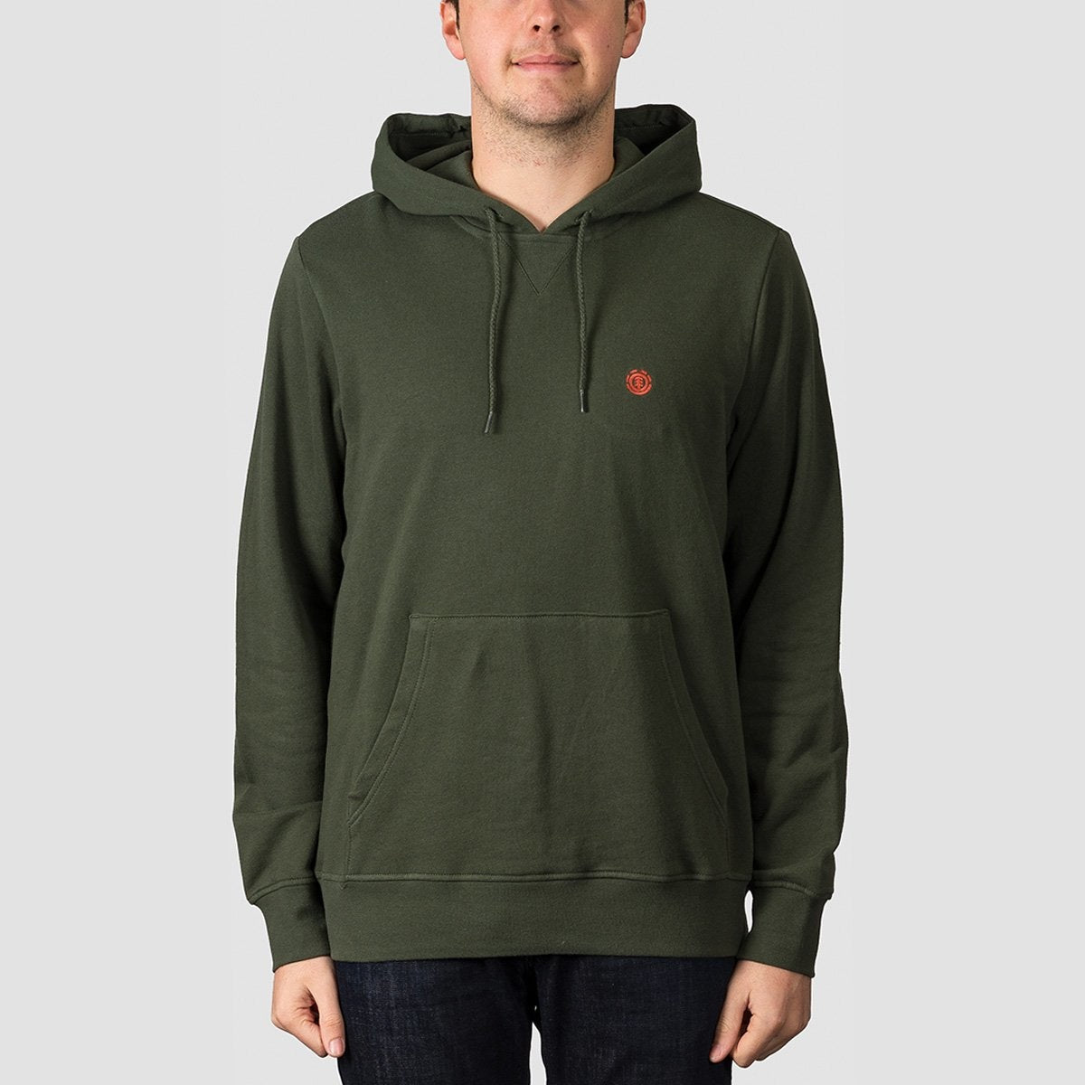 Element Cornell Ft Pullover Hood Olive Drab - Clothing