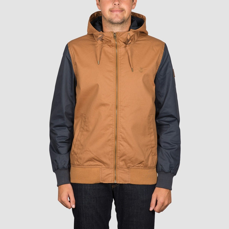 Element Dulcey Wax Jacket Bronco Brown Eclipse Navy - Clothing