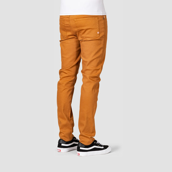 Element E02 Colour Slim Straight Jeans Bronco Brown