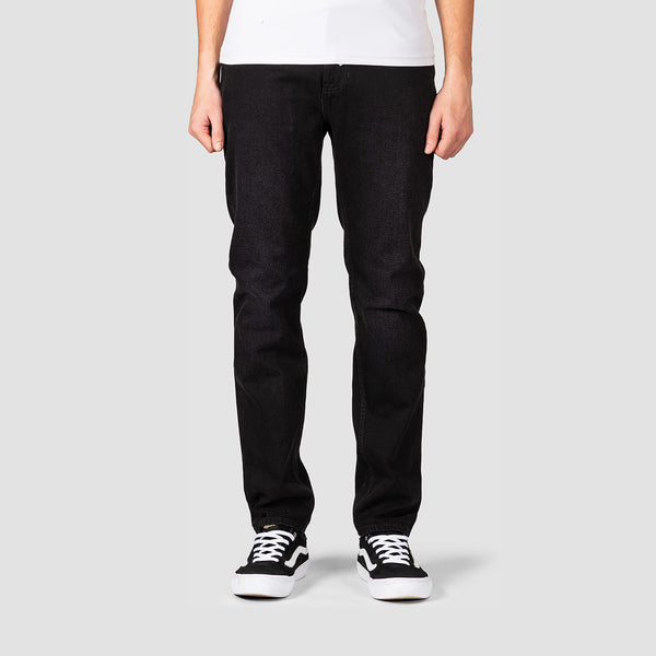 Element E02 Slim Straight Jeans Black Dark Used