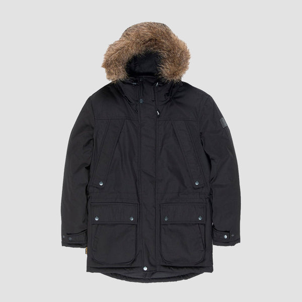 Element Fargo Parka Jacket Flint Black - Womens