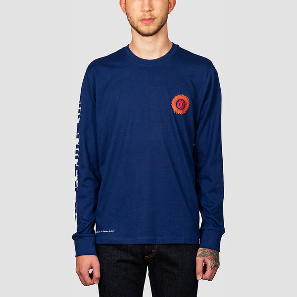 Element Florian Longsleeve Tee Blue Depths