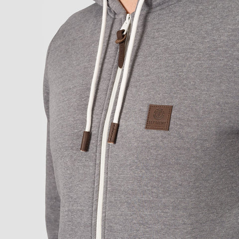 Element Heavy Sherpa Zip Hood Grey Heather - Clothing