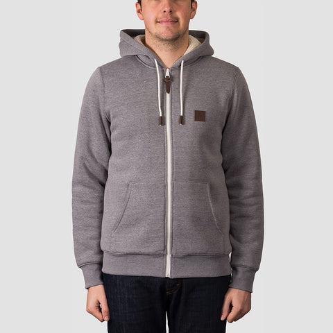 Element Heavy Sherpa Zip Hood Grey Heather