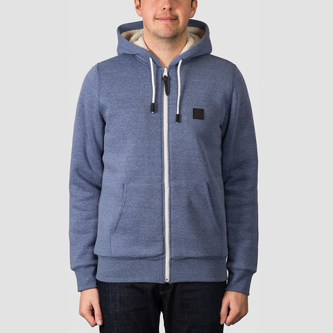 Element Heavy Sherpa Zip Hood Naval Heather