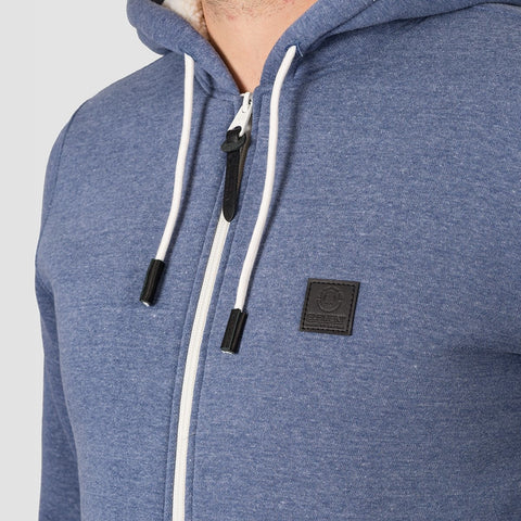 Element Heavy Sherpa Zip Hood Naval Heather - Clothing