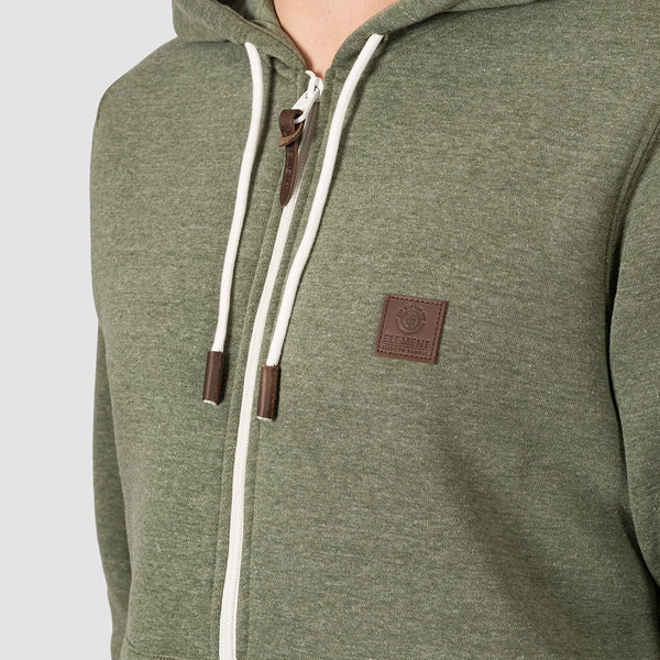 Element Heavy Zip Hood Forest Night Heather - Clothing