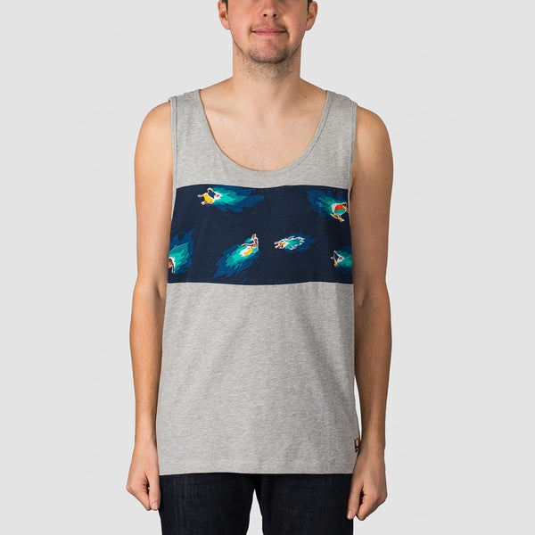 Element Hoffman Panel Tank Grey Heather - Clothing
