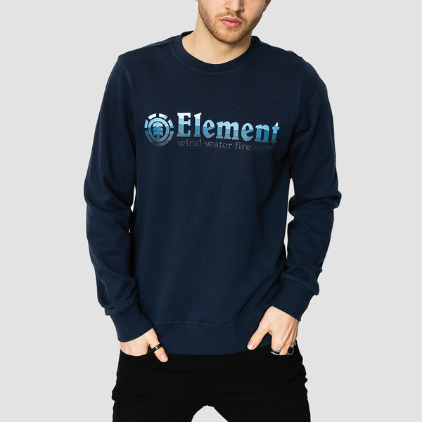 Element Horizontal Fill Crew Sweat Eclipse Navy