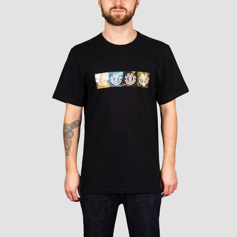 Element Horizontal Seasons Tee Flint Black