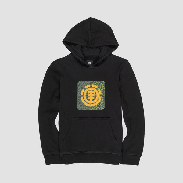 Element Leopard Icon Fill FT Pullover Hood Flint Black - Kids
