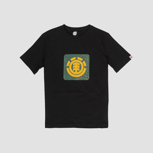 Element Leopard Tee Flint Black - Kids