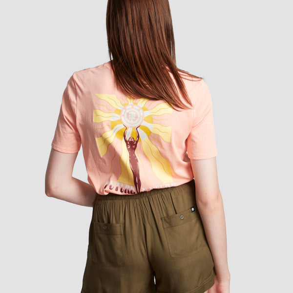 Element Modern Tee Coral Pink - Womens
