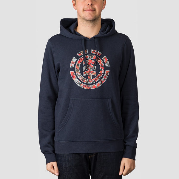 Element Multi Icon Pullover Hood Eclipse Navy - Clothing