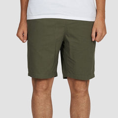 Element Pull Up Ripstop Walkshorts Moss Green - Clothing