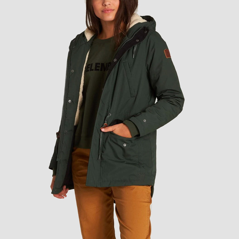 Element Roghan Parka Jacket Olive Drab - Womens
