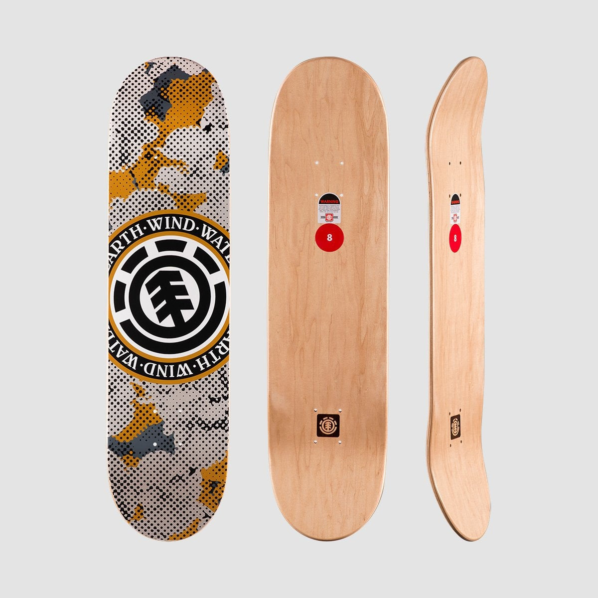 Element Seal Pop Camo Featherlight Deck 8.00 - Skateboard