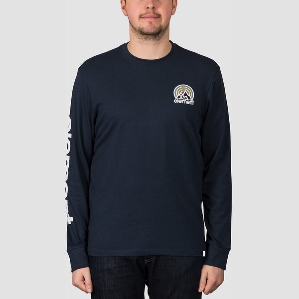 Element Sonata Long Sleeve Tee Eclipse Navy - Clothing