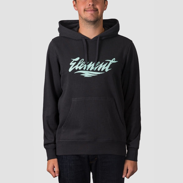 Element Stroke Pullover Hood Off Black - Clothing