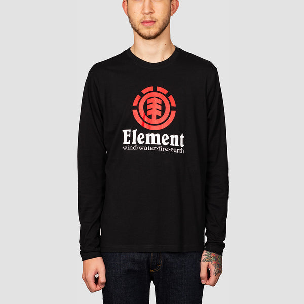 Element Vertical Longsleeve Tee Flint Black