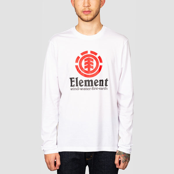 Element Vertical Longsleeve Tee Optic White