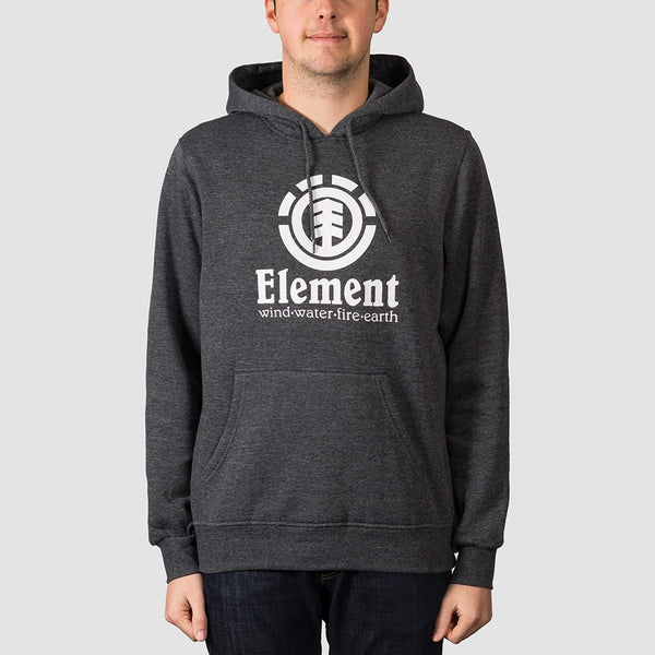 Element Vertical Pullover Hood Charcoal Heather - Clothing
