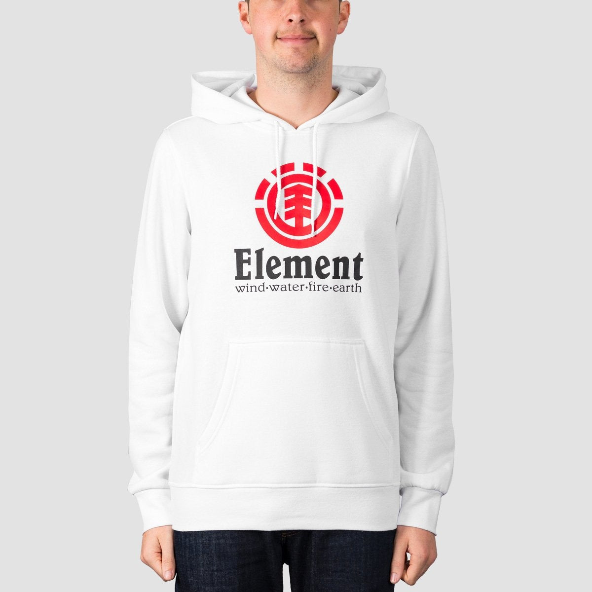 Element Vertical Pullover Hood Optic White - Clothing