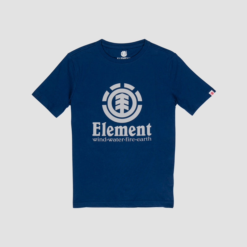 Element Vertical Tee Blue Depths - Kids