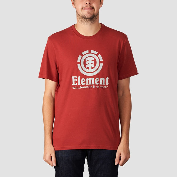 Element Vertical Tee Brick Red - Clothing