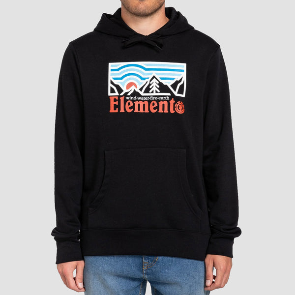 Element Wander Pullover Hood Flint Black