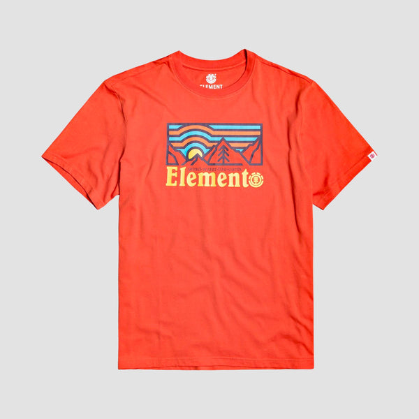 Element Wander Tee Red Clay - Kids