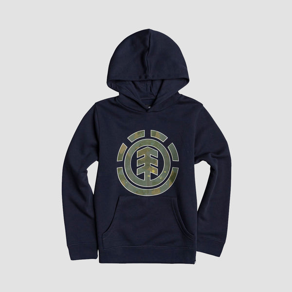 Element Water Camo Fill Pullover Hood Eclipse Navy - Kids