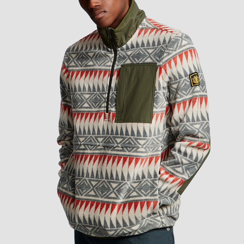 Element Windrift Seeker 1/4 Zip Sweatshirt Ash Grey