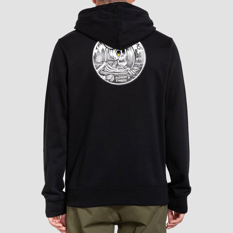Element X Timber The Remains B-Side Pullover Hood Flint Black