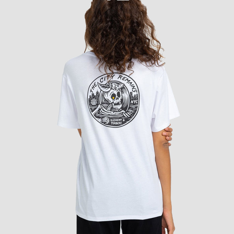 Element X Timber The Remains B-Side Tee Optic White - Womens