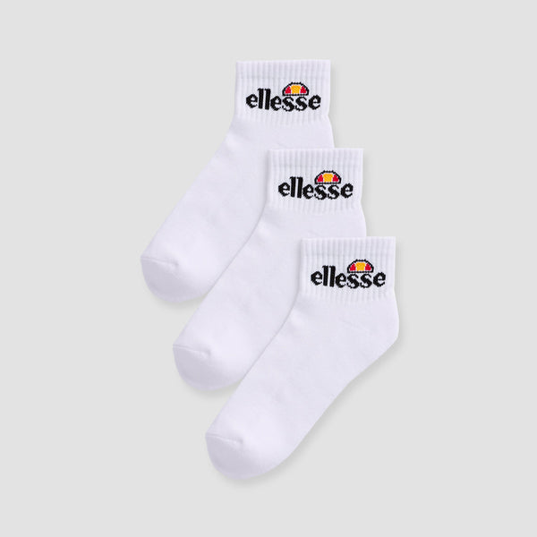 ellesse Arrom Ankle Socks 3 Pack White - Unisex
