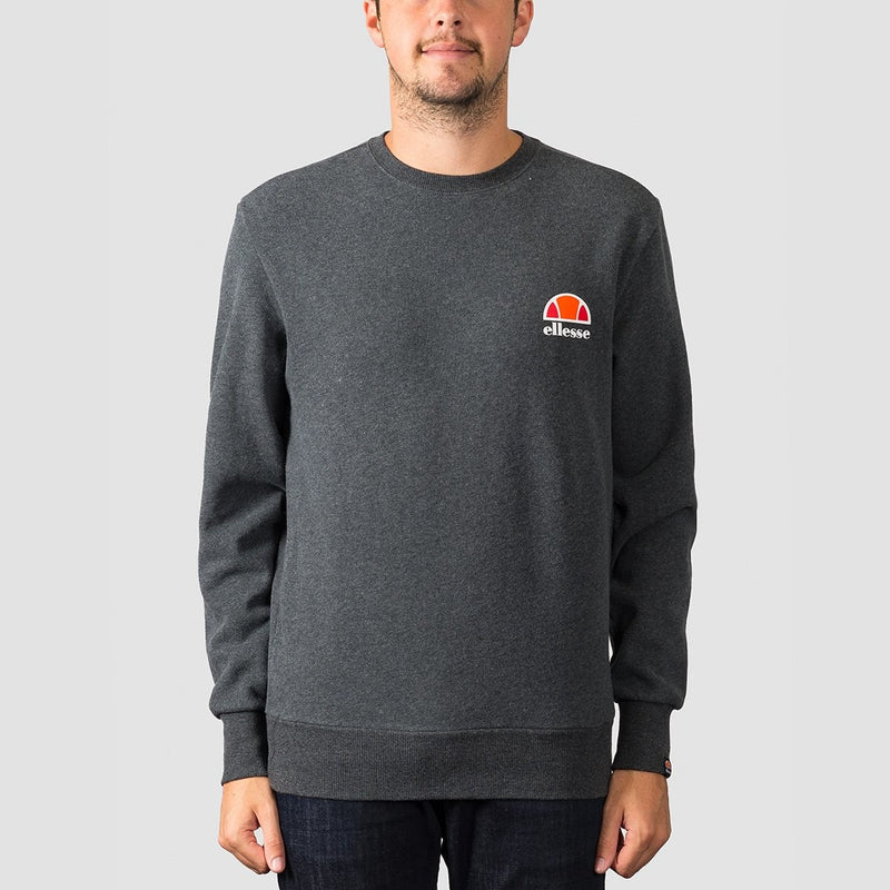 ellesse Diveria Crew Sweat Dark Grey Marl - Clothing