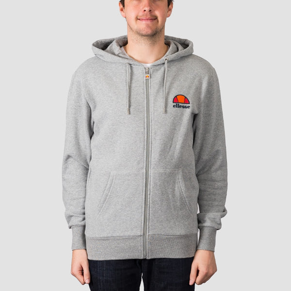 ellesse Miletto Zip Hood Grey Marl - Clothing